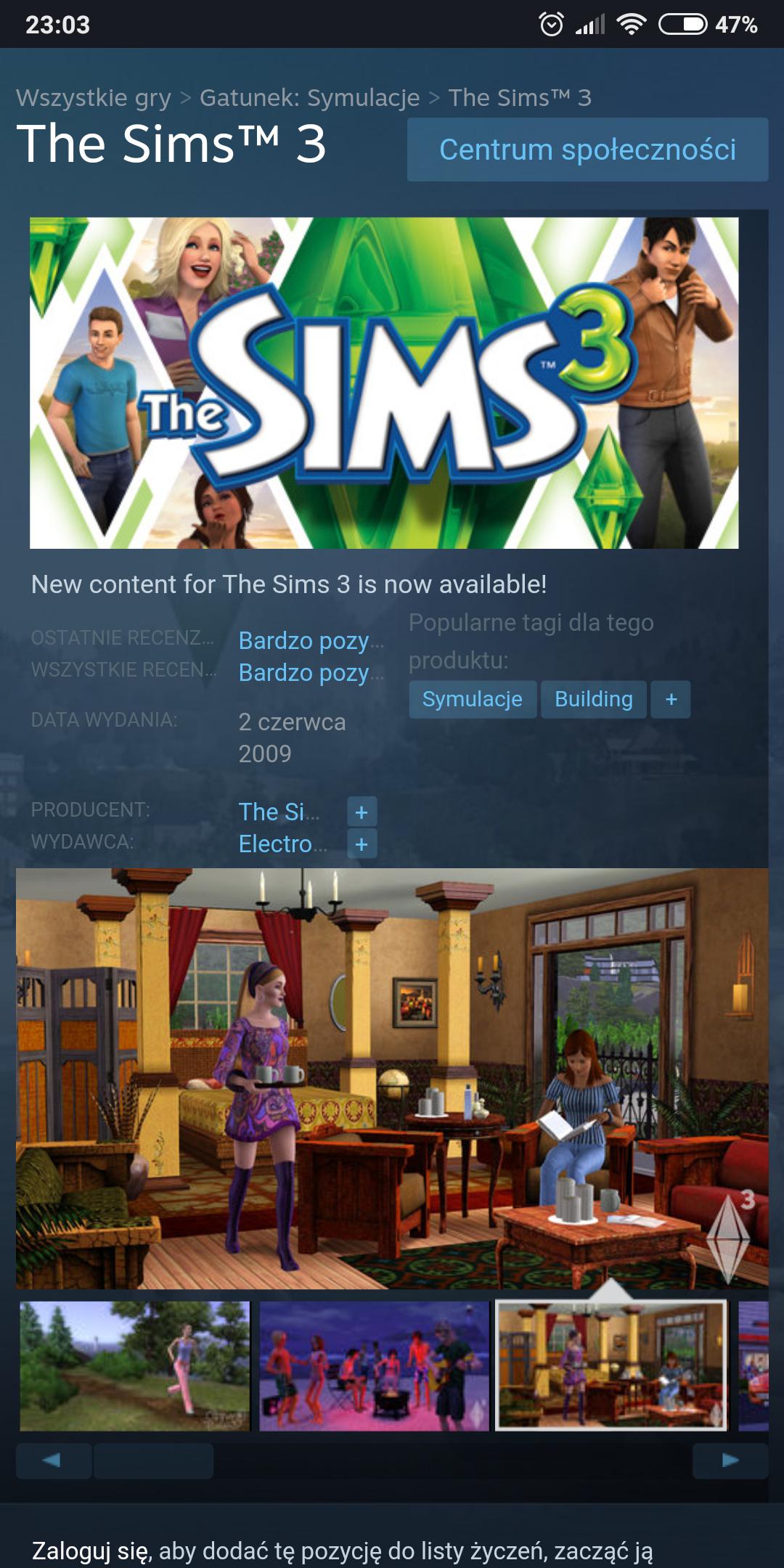 The Sims 3 na STEAM tańsze o 75%
