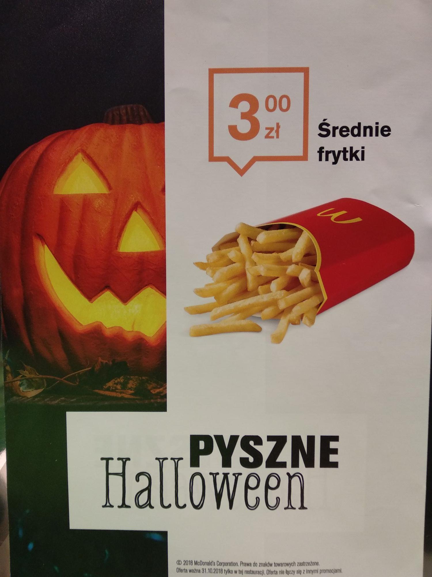 Średnie frytki za 3 zł! - Mc Donalds pl. Dominikański Kraków