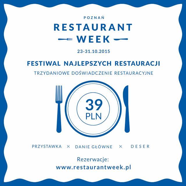 Restaurant Week - 3 daniowy obiad w ekskluzywnych restauracjach za 39zł (Poznań, Wrocław, Warszawa, Kraków, Trójmiasto, Silesia)