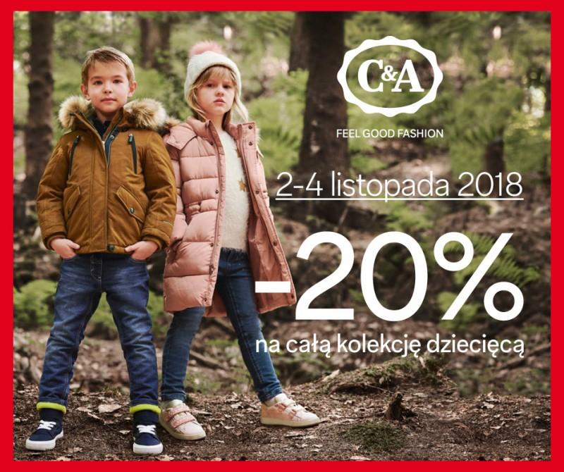 [2-4.11] 20% rabatu na kolekcję dziecięcą @ C&A