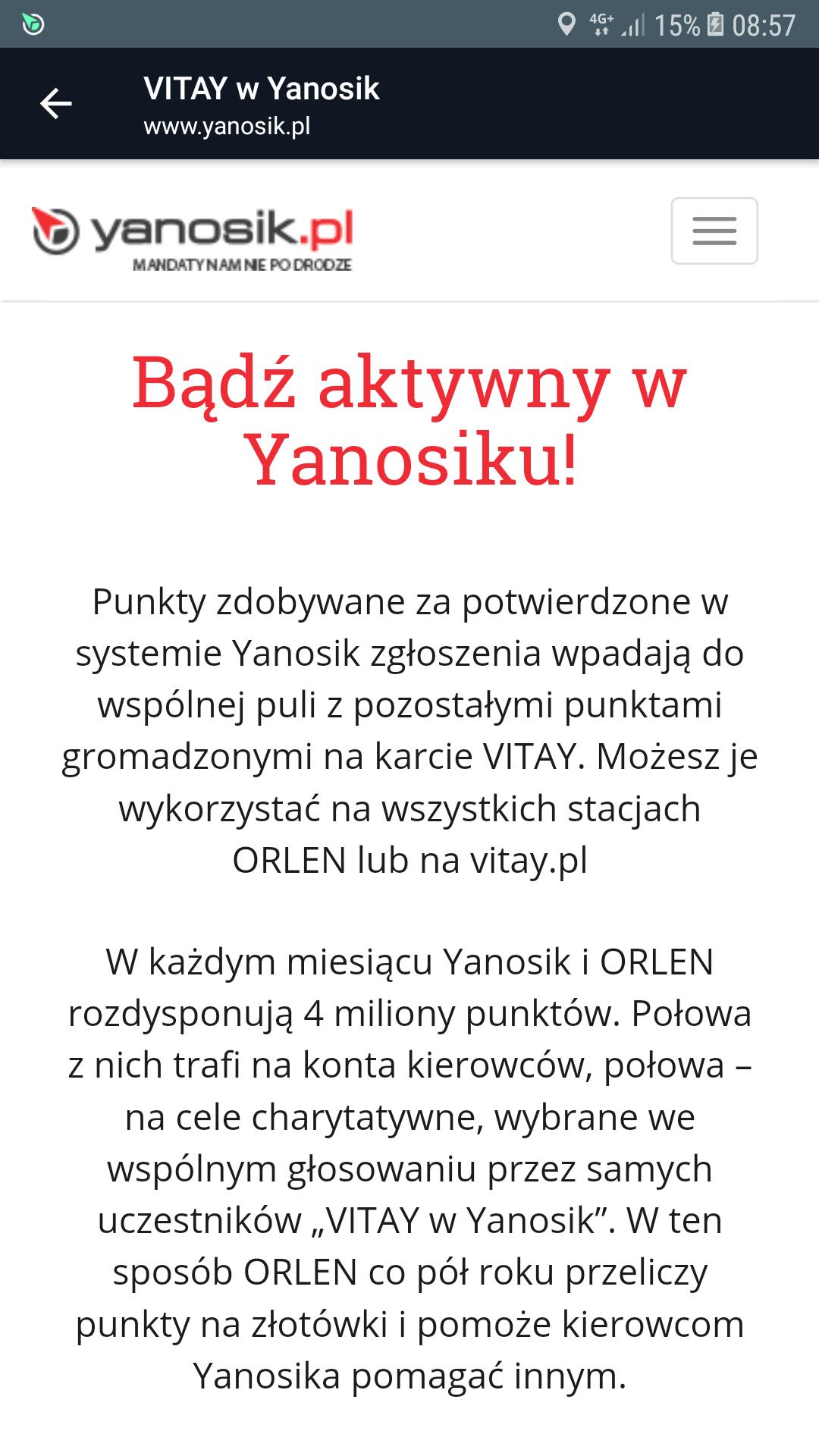 Punkty Vitay w Yanosiku