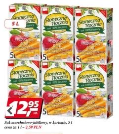 Słoneczna Tłocznia, naturalny sok w kartonie 5L w cenie 12,95zł @ Real