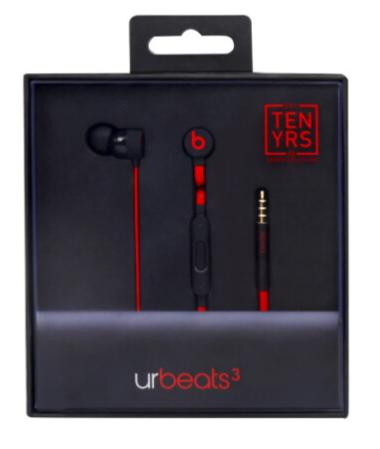 Słuchawki Beats urBeats3 (Edycja 10-lecia)