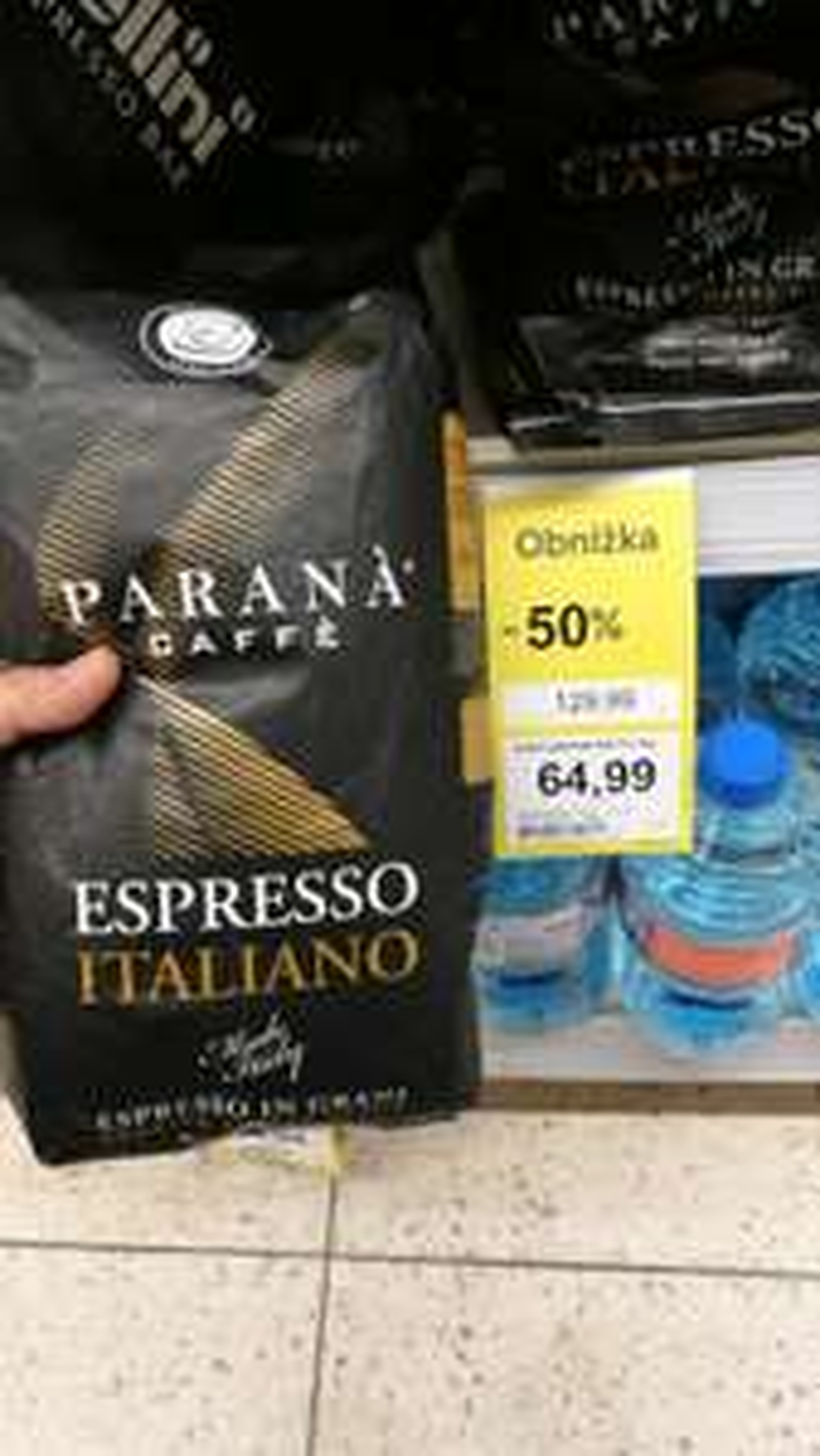 KAWA ZIARNISTA PARANA CAFFE ESPRESSO ITALIANO 1 KG - KAWA NA MEDAL