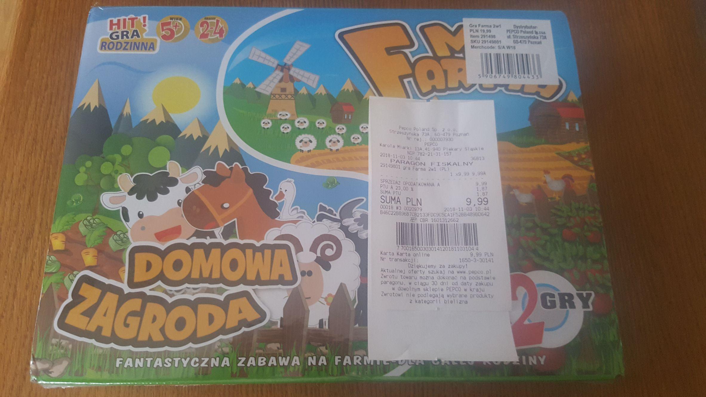 Gra rodzinna dla dzieci(Mini farma,Domowa zagroda) - Pepco