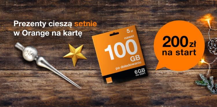 Nowy numer w Orange na kartę z bonusem 200 zł na rozmowy