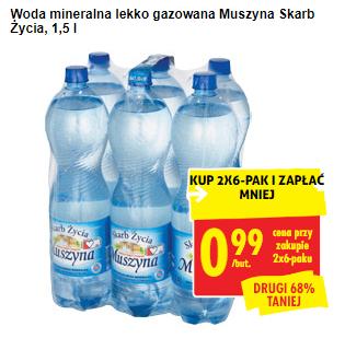 Woda mineralna Muszyna @Biedronka