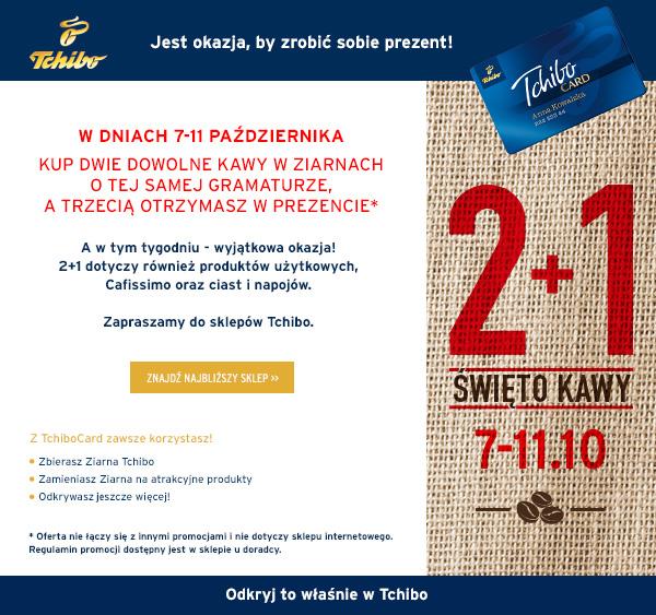 2+1 gratis nie tylko na kawę @ Tchibo