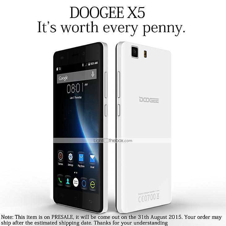Smartfon 3G - DOOGEE - DOOGEE X5 - Android 5.1