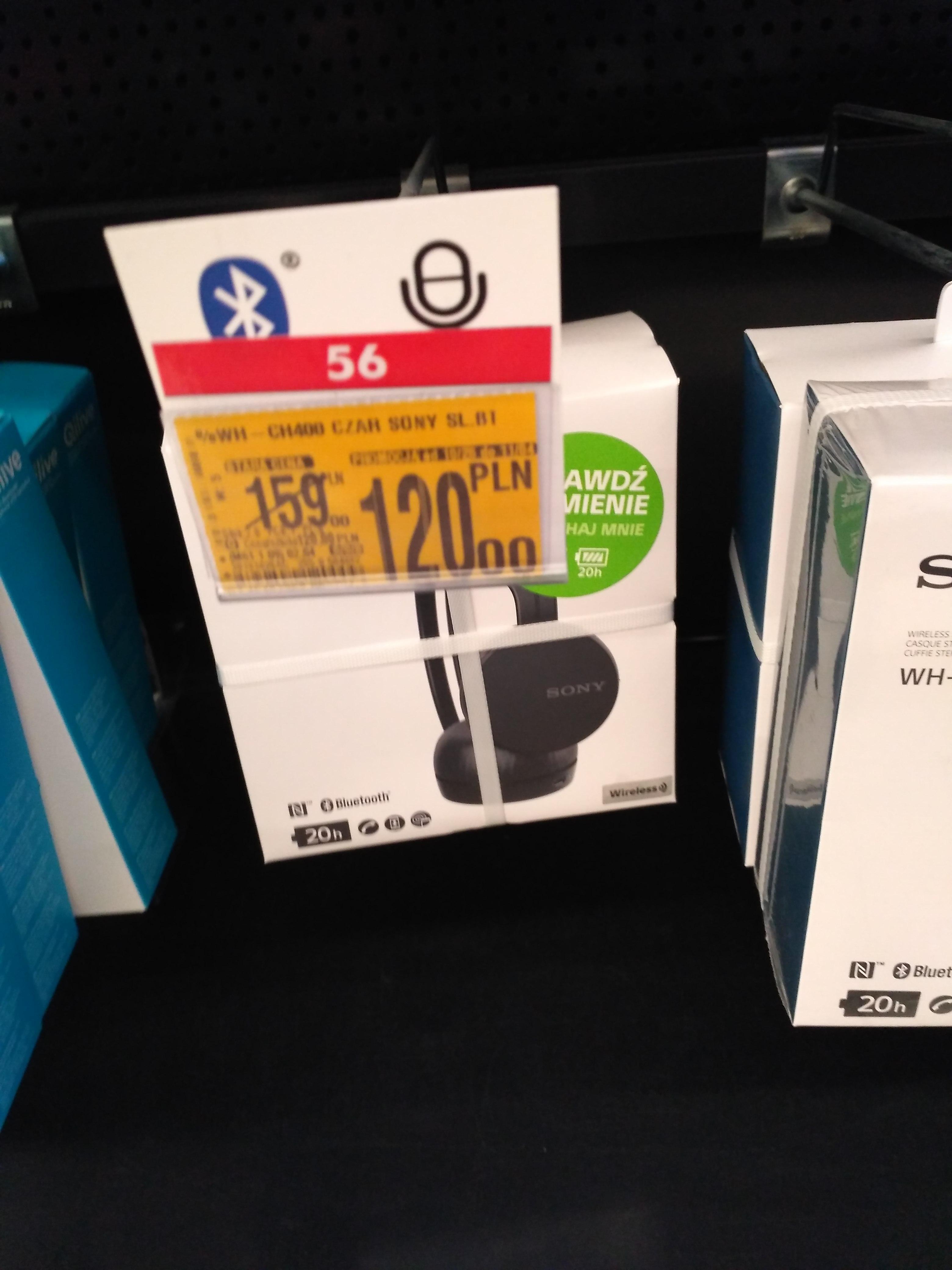 Wh-ch400 Słuchawki Sony Czarne lokalna