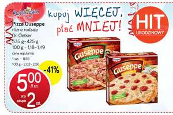 Pizza Guseppe w cenie 5zł/szt. @ Polomarket