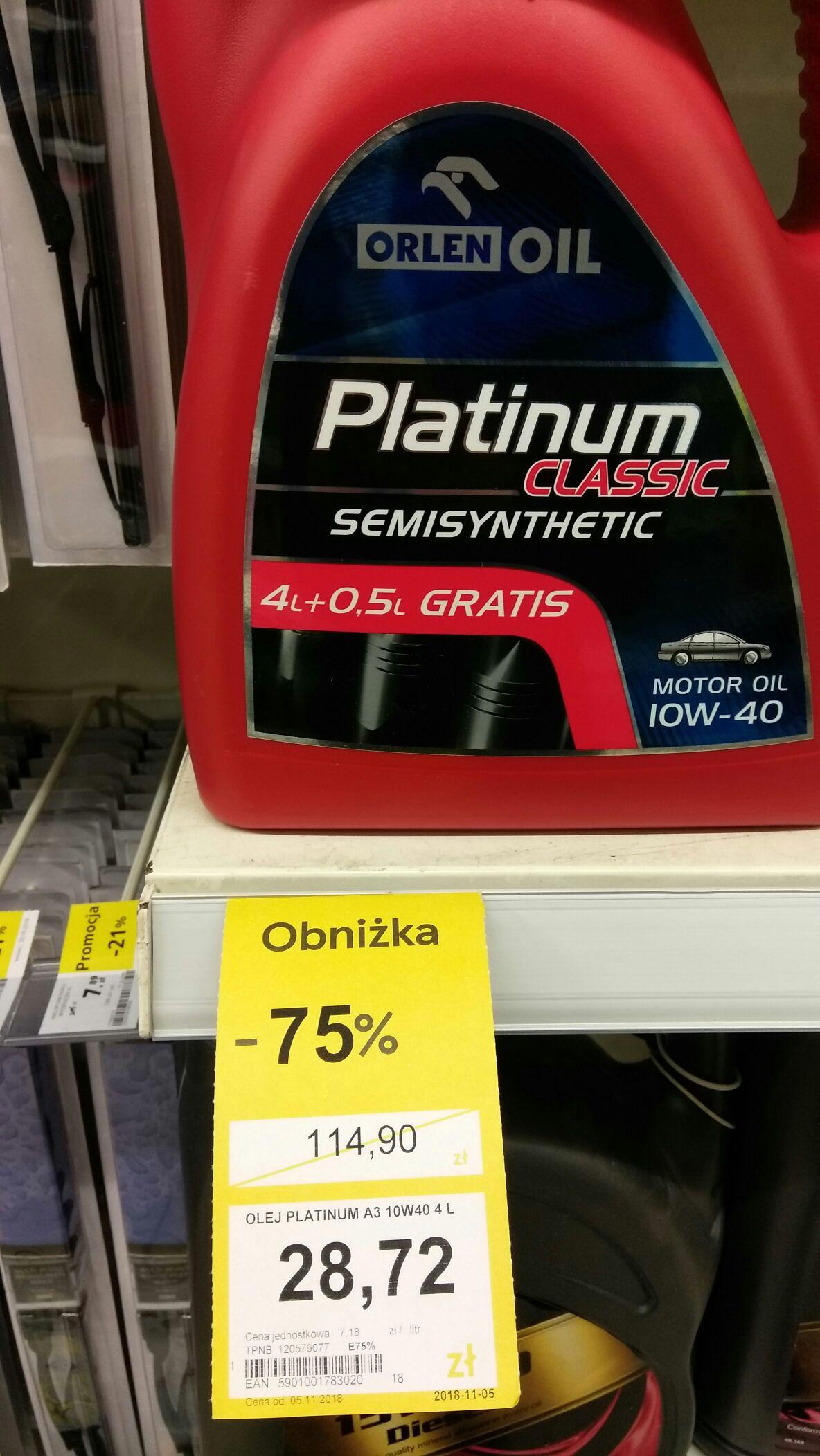 Olej Orlen Platinum Classic 10w40 4.5L semisynthetic