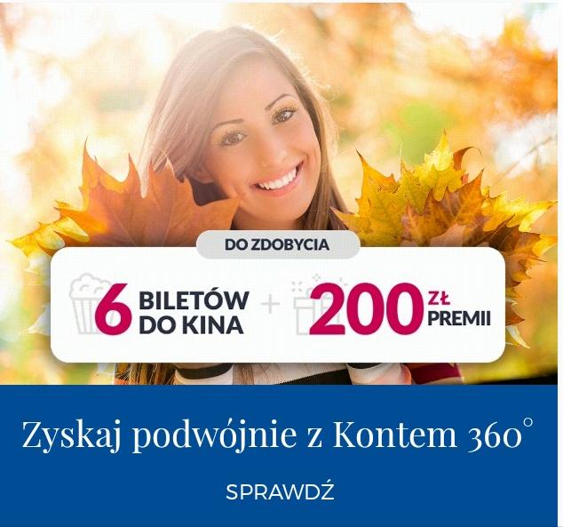 6 biletów do Multikina i premia 200zl dla nowych klientów. Bank Millennium