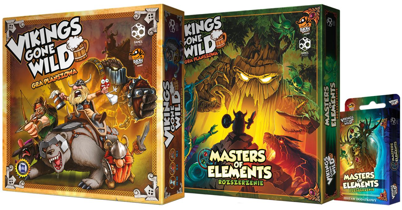 Games Factory Vikings gone Wild - zestaw podstawka + dodatki