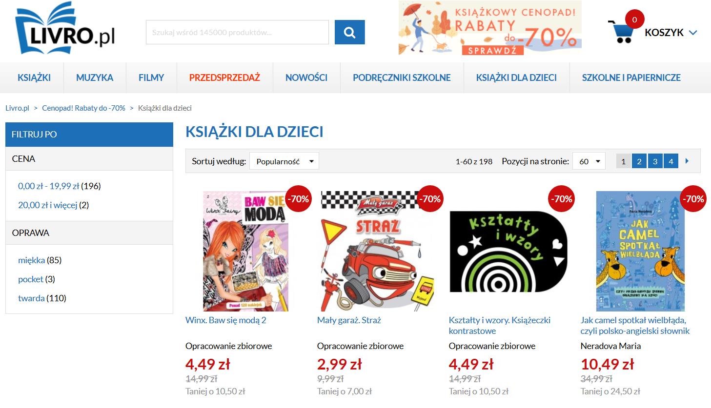 Livro.pl - książeczki dla dzieci z rabatem do 70%