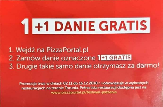 FESTIWAL JEDZENIA pizzaportal.pl TORUŃ 1+1 Gratis