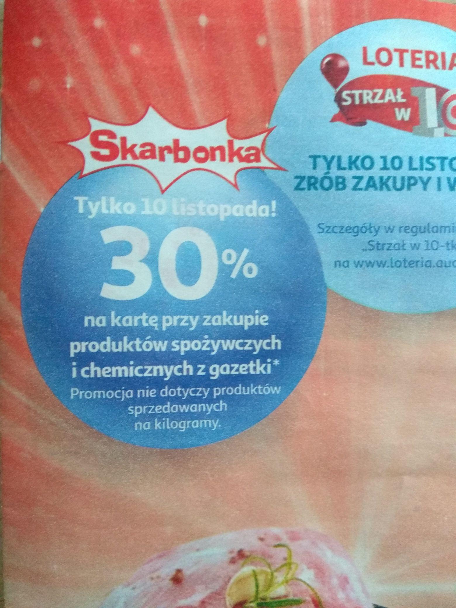 30% na konto Skarbonka Auchan