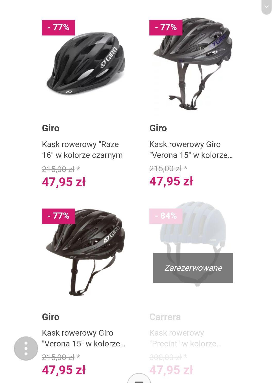Kaski rowerowe Giro i Bell różne rodzaje Limango Outlet