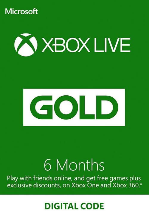 Xbox Live Gold 6 miesięcy za ~ 90 zł