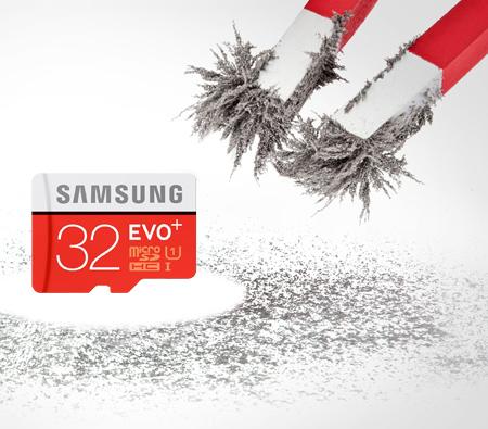 Karta microSDHC 32GB Samsung Evo Class 10 zapis do 80MB/s - odczyt do 20MB/s