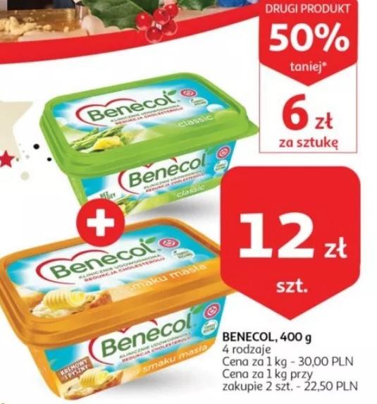 Benecol 400g Auchan drugi 50% taniej