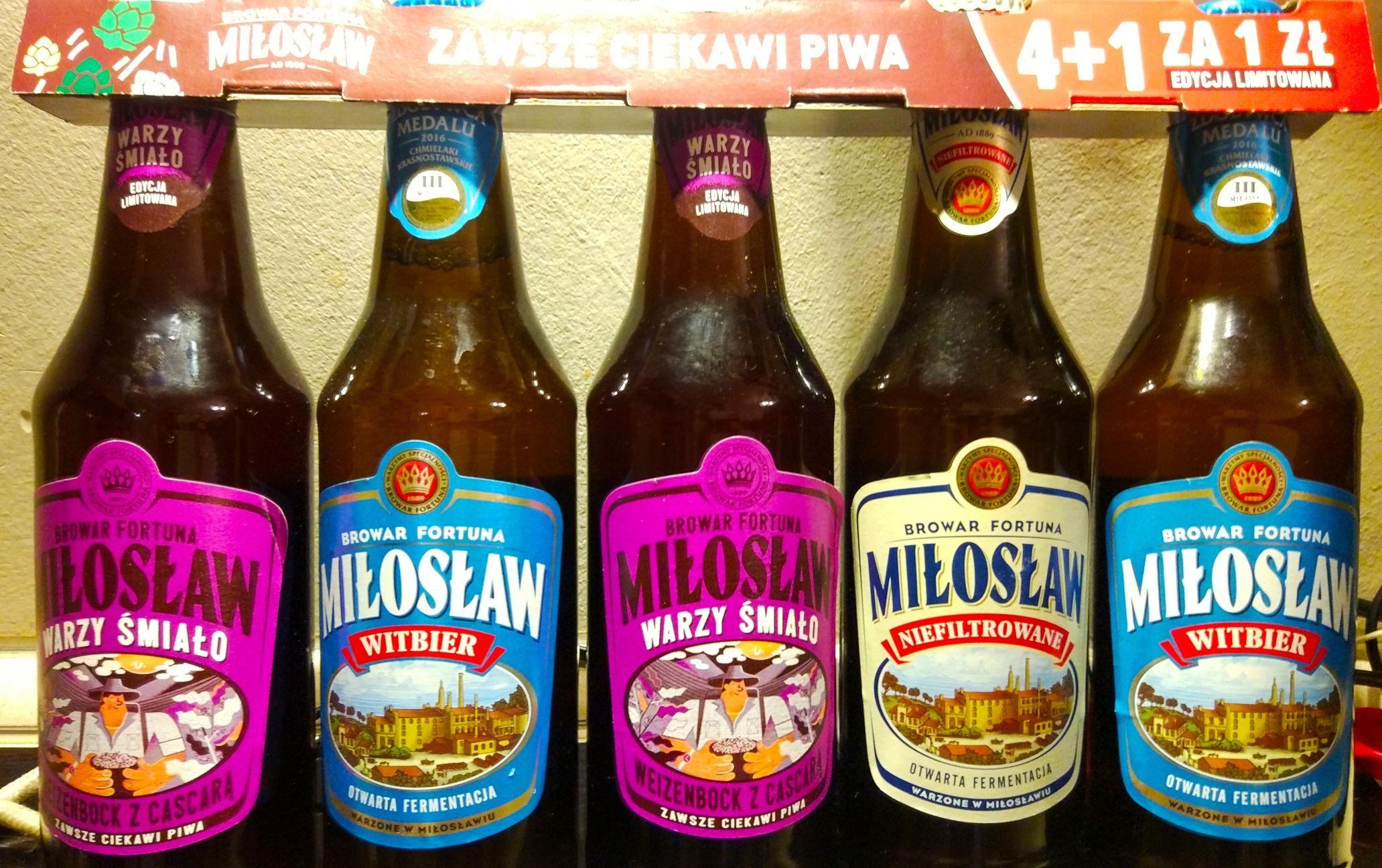 5-pak Miłosław w Auchan za 10zl (kaucja 0zl) - butelka za 2zl