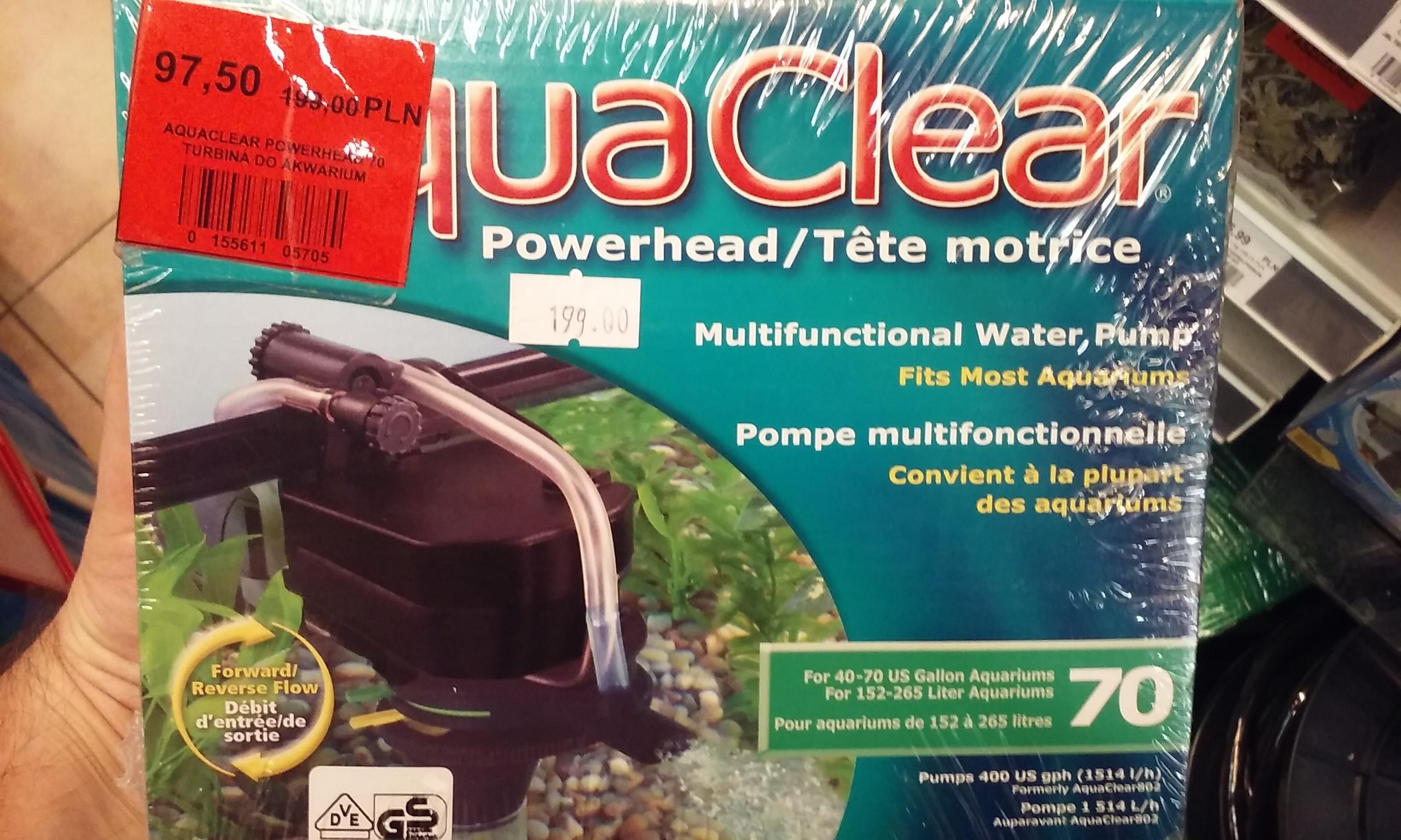 Aqua Clear Powerhead 70 pompa wielofunkcyjna do akwarium  Kakadu Warszawa Blue City