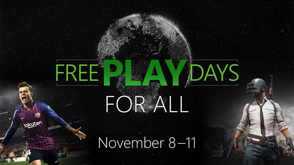 Xbox Free Play Days darmowy multiplayer 08-11.11 granie online bez aktywnej subskrypcji Xbox Live Gold