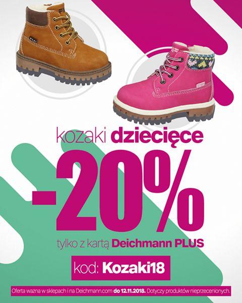 Deichmann Kozaki dziecięce -20% z kartą Deichmann Plus