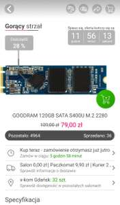 GOODRAM 120GB SATA S400U M.2 2280