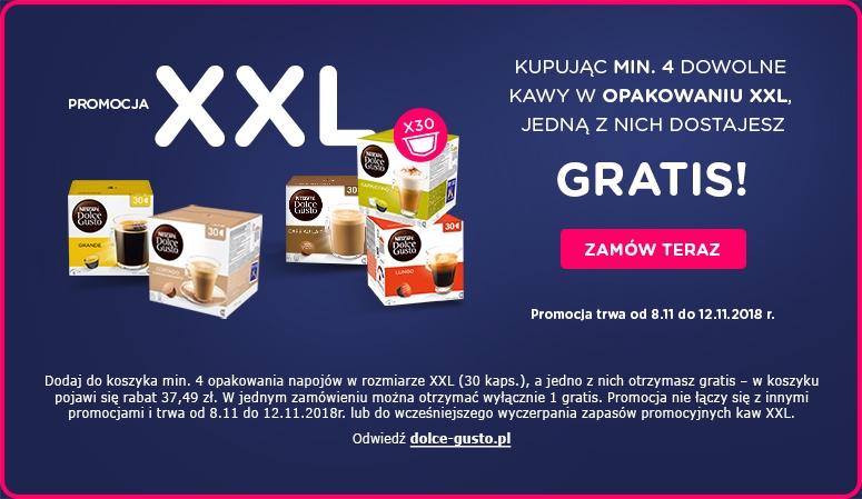 DOLCE GUSTO przy zakupie 4 kaw xxl 1 gratis