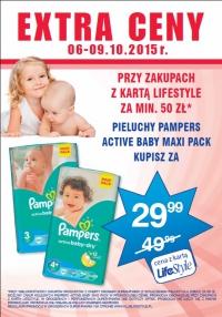 Pieluszki Pampers Maxi Pack za 29,99zł przy zakupach za 50zł @ Superpharm