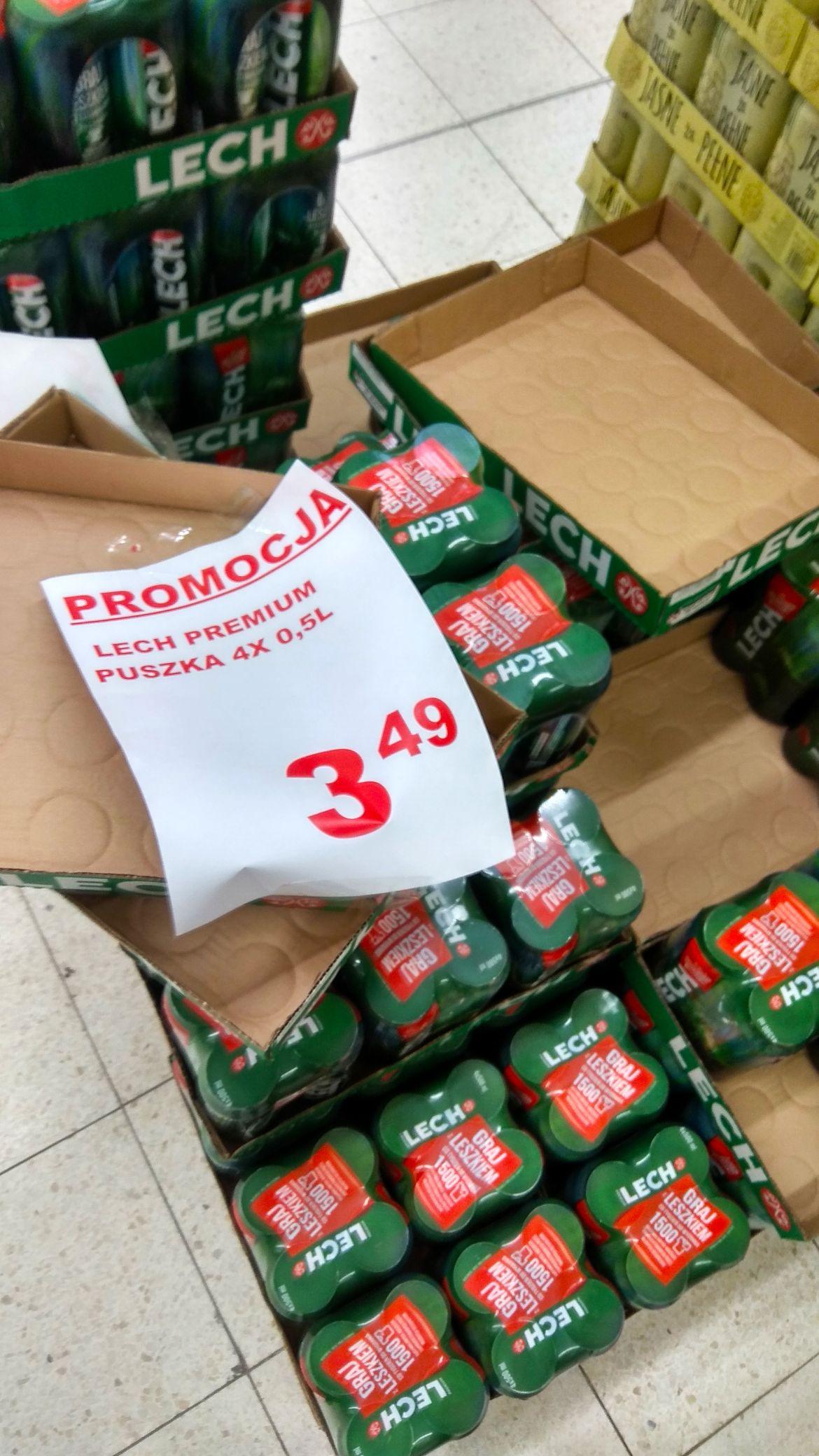 Lech Premium 4x0,5 l Auchan Białystok