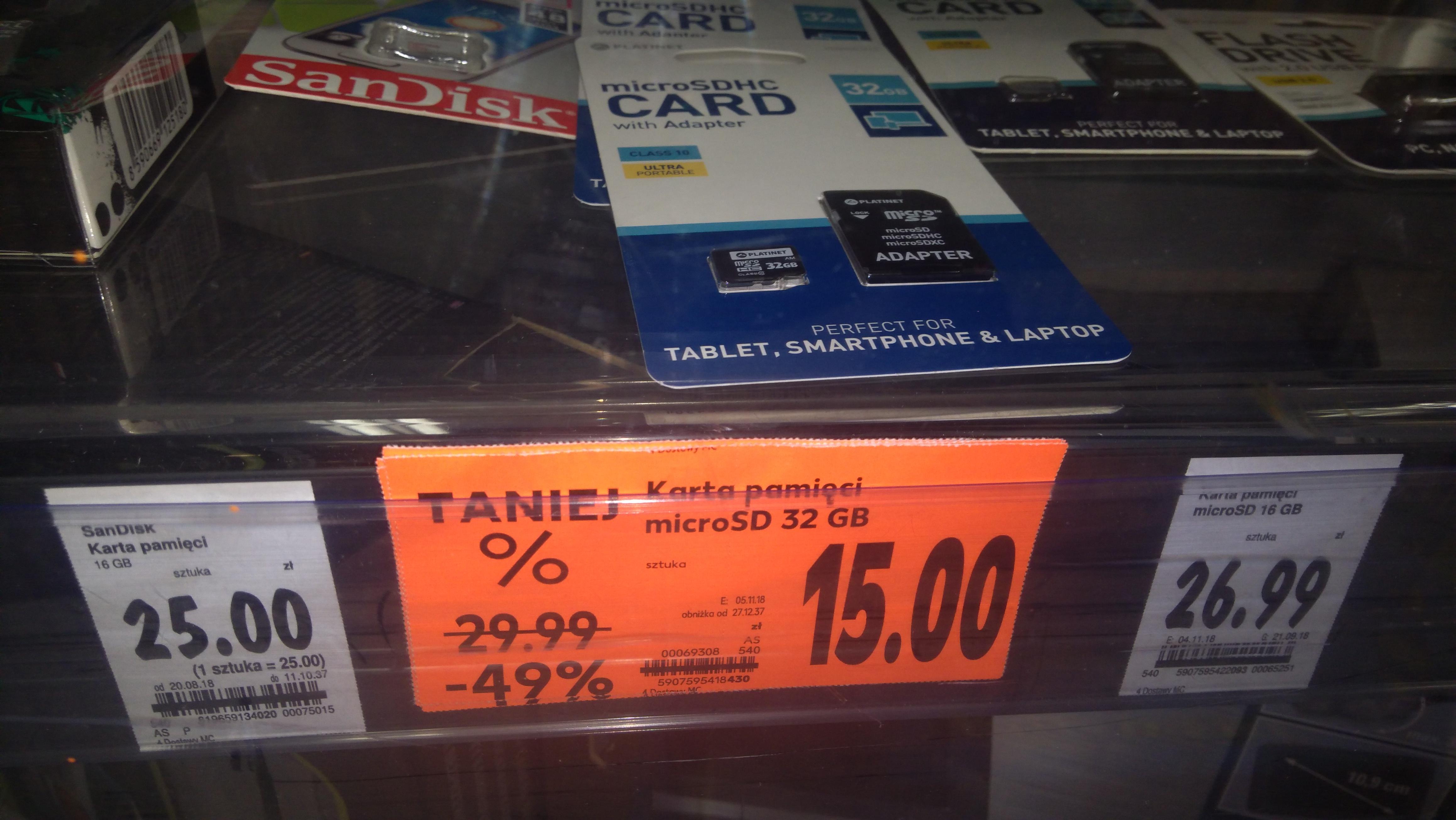 Karta microSD 32gb + adapter Kaufland