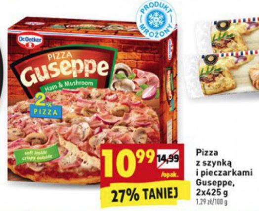 Pizza Guseppe 2x z szynką i pieczarkami @Bierdonka