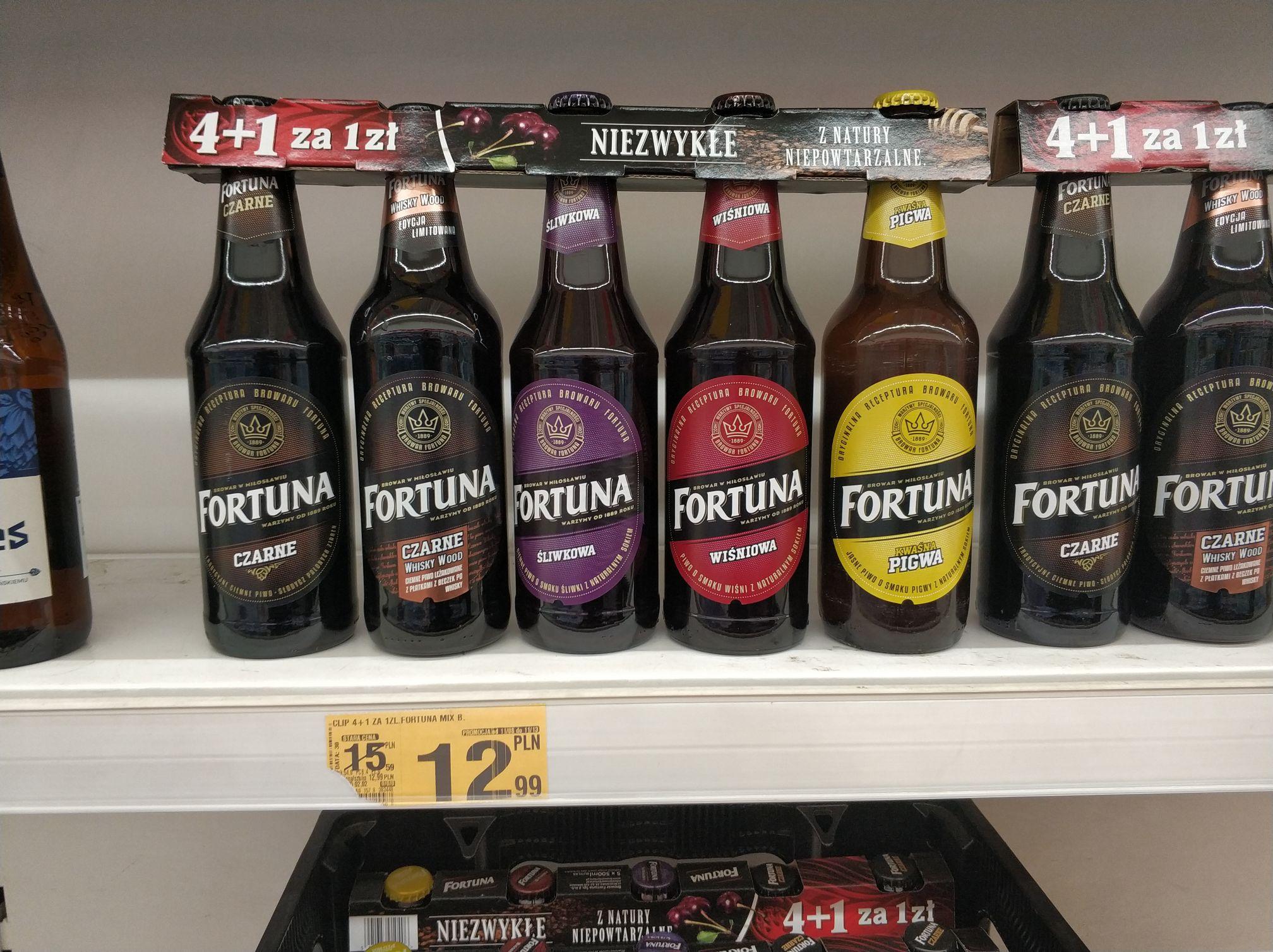 Piwo Fortuna 4+1 Auchan Mysłowice