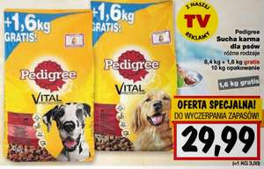 Sucha karma dla psów Pedigree 10kg w cenie 29,99zł @ Kaufland