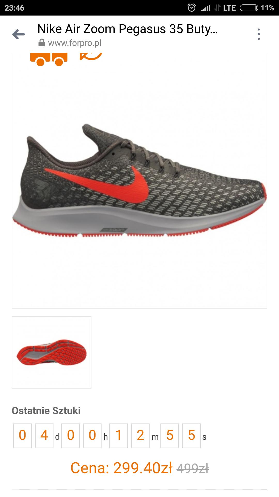 Nike Air Zoom Pegasus 35 - duże rozmiary - ost. sztuki