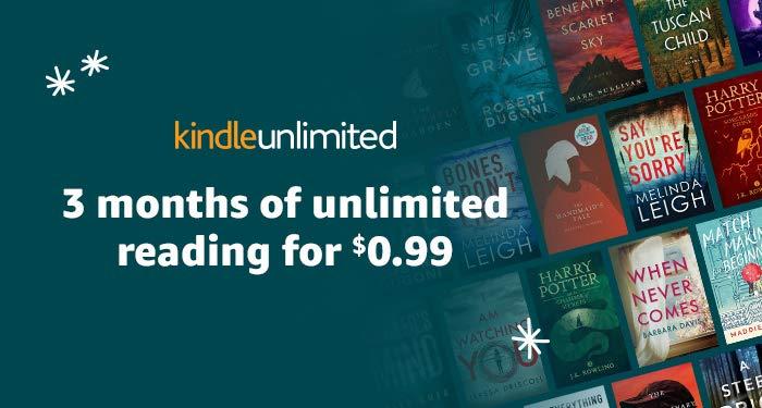 Kindle Unlimited na 3 miesiące za ~3,7 zł ($0,99)