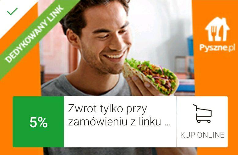 mOkazje Pyszne.pl zwrot 5%