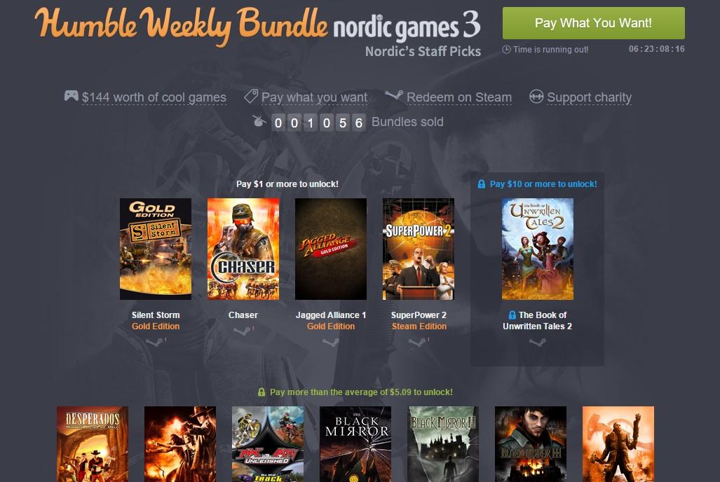 Pakiet od Nordic Games (od 3,75zł) @ Humble Weekly Bundle