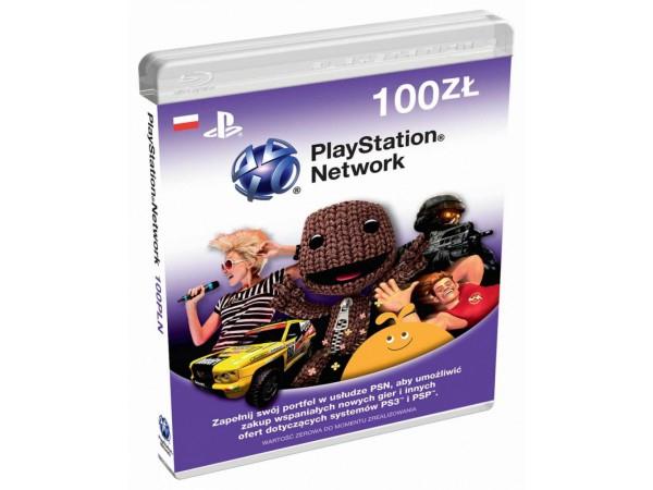 Doładowanie PlayStation PS Store 100 PLN