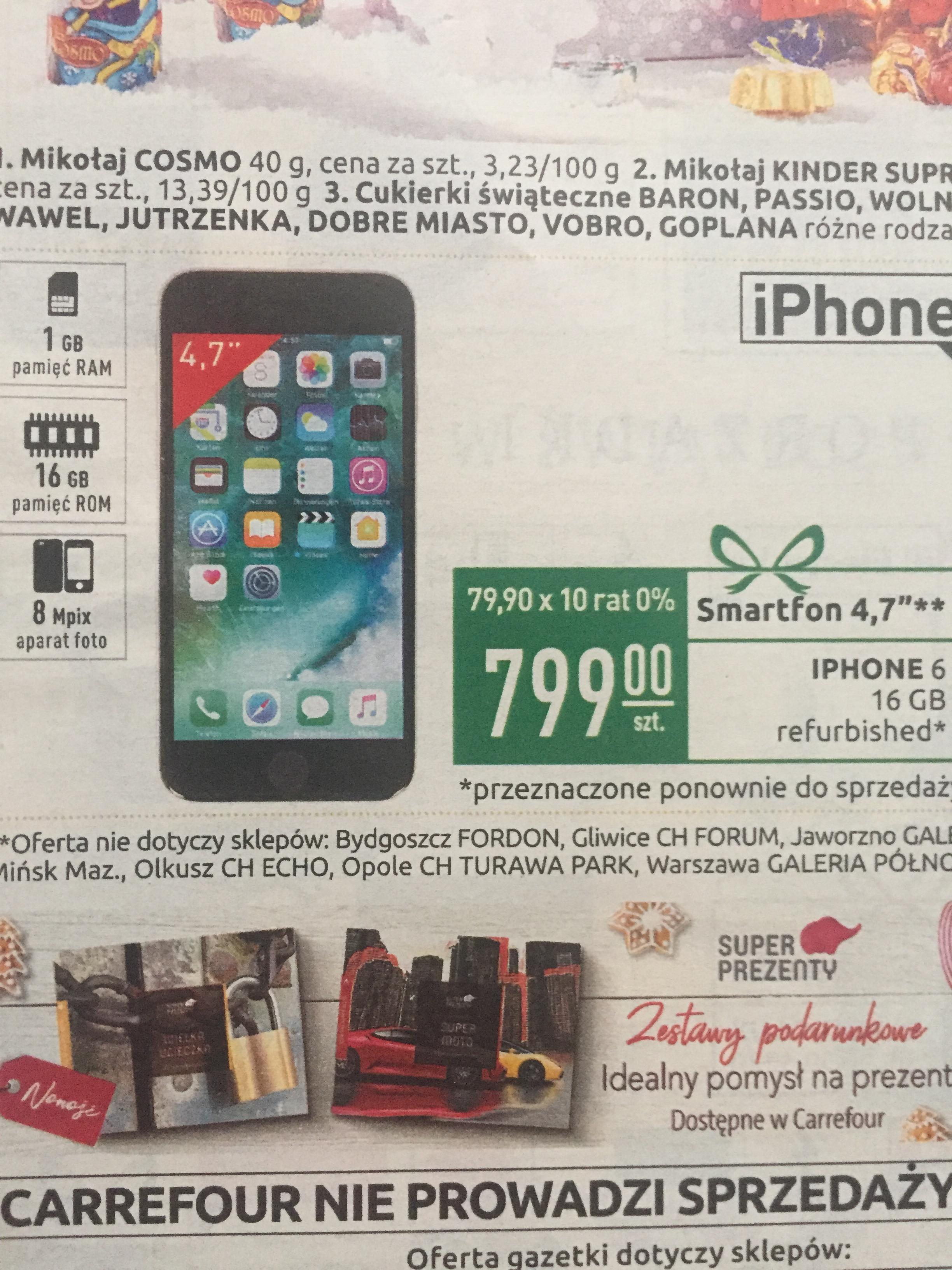 iPhone 6 16gb odnowiony @carrefour
