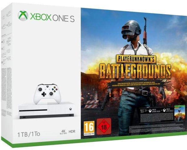 Xbox One S 1TB + PUBG Playerunknown's Battlegrounds Bundle 199,31EUR Amazon.it