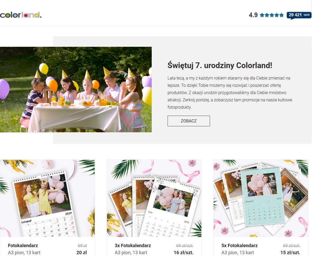 Świętuj 7. urodziny Colorland! Fotokalendarze i inne gadżety.