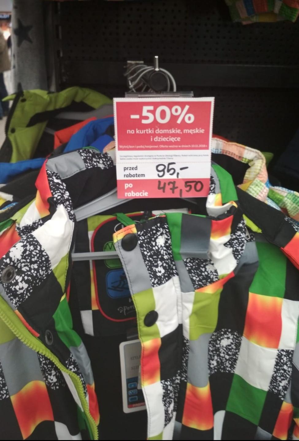 -50 % na kurtki Auchan m1 Zabrze