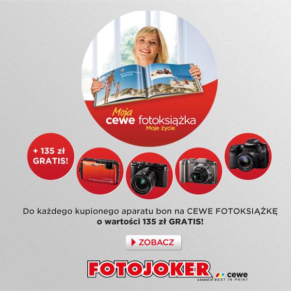 do każdego aparatu, bon na fotoksiążkę o wartości 135zł GRATIS @ Fotojoker