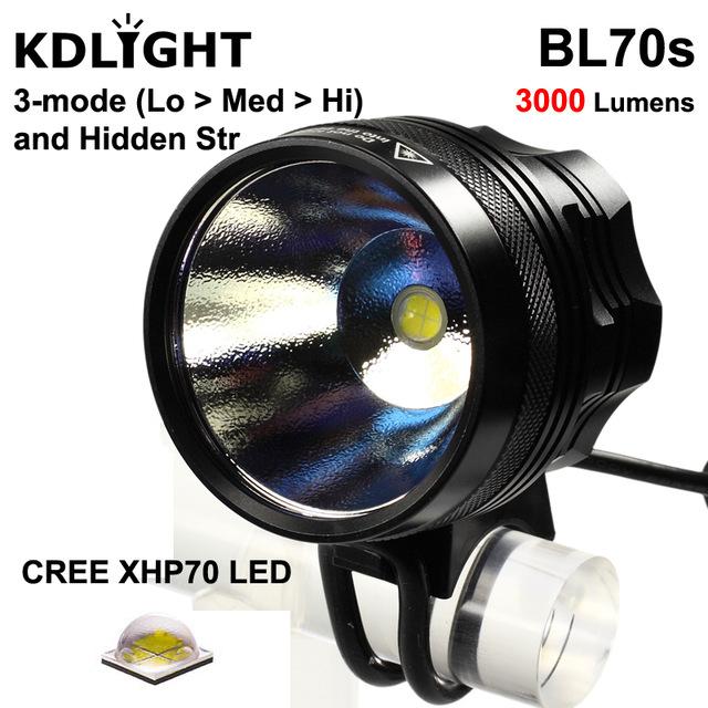 KDLITKER BL70s Cree XHP70.2 Biały 6500 K/Neutralny Biały 4000 K 3000 Lumenów