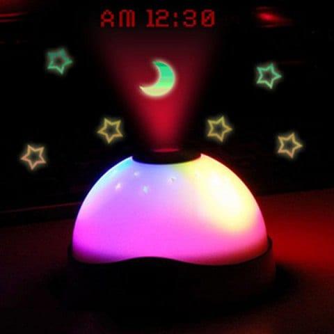 Projektor Ledowy z zegarkiem i budzikiem.