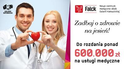 Wizyta lekarska i komplet badań GRATIS przy zakupach od 250zł (Katowice) @ Falck/Galeria Katowicka